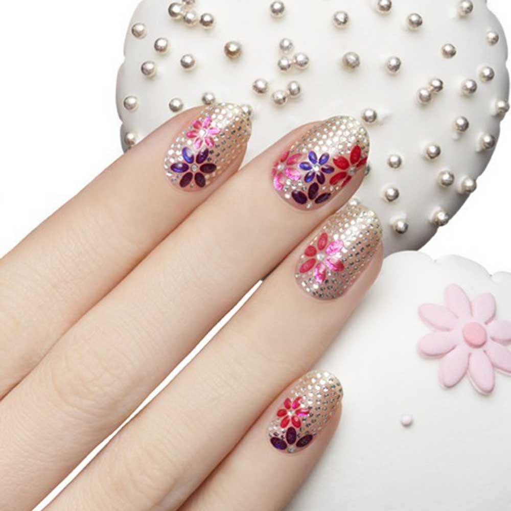 Lhwy 50 Sheets 3d Design Manicure Tips Decal Decorations Nail Art