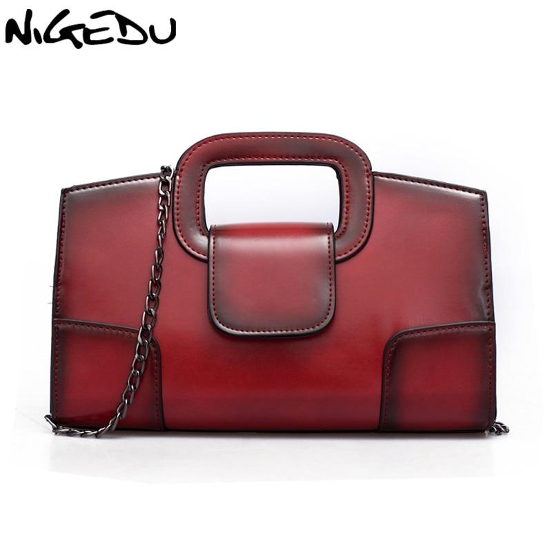 NIGEDU Brand Retro Women handbags Chain Women's Shoulder bag Ladies luxury Envelope evening bags Totes bolsa franja Clutches