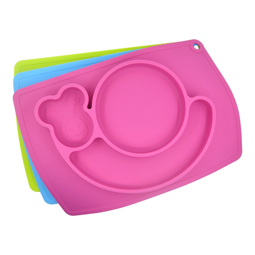 Baby Placemat Plate Tray Suction Patterns Silicone
