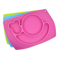 Baby Placemat And Plate Suction Placemat And Tray For Baby Different Color And Pattern Silicone Placemat