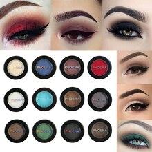 PHOERA Doğal Mat Göz Farı Su Geçirmez Paleti 12 Renkler Pigment Çıplak Göz Farı Makyaj Güzellik Makyaj Kozmetik TSLM1