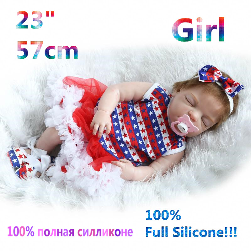 23 Newest 100% Full Silicone Doll Reborn Babies Brinquedo Realistic Simulation Soft lovely Bonecas Doll Baby Reborn RB16-13H10 christmas gifts in europe and america early education full body silicone doll reborn babies brinquedo lifelike rb16 11h10