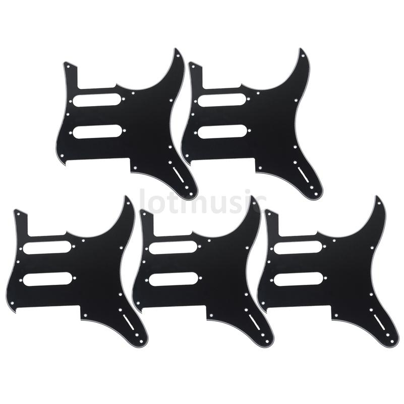 5 pcs electric guitar pickguard for yamaha pacifica 112v replacement 3ply black in guitar parts. Black Bedroom Furniture Sets. Home Design Ideas