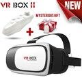 Hot caixa de realidade virtual vr 2.0 ii óculos 3d xiaozhai google papelão vr capacete headset óculos de vídeo 3d + bluetooth gamepad 5.0
