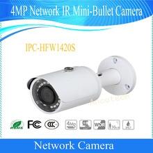 Free Shipping DAHUA CCTV NEW Product Security IP Camera 4MP Network IR Mini-Bullet Camera IP67 POE without Logo IPC-HFW1420S