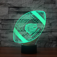 3D American Football Modelling Night Light Baby Bedroom Atmosphere Sleep Lighting 7 Color Change Led Rugby