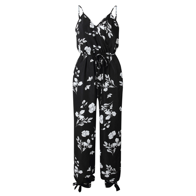 V Neck Sexy Bodysuits Women With Belt Jumpsuits