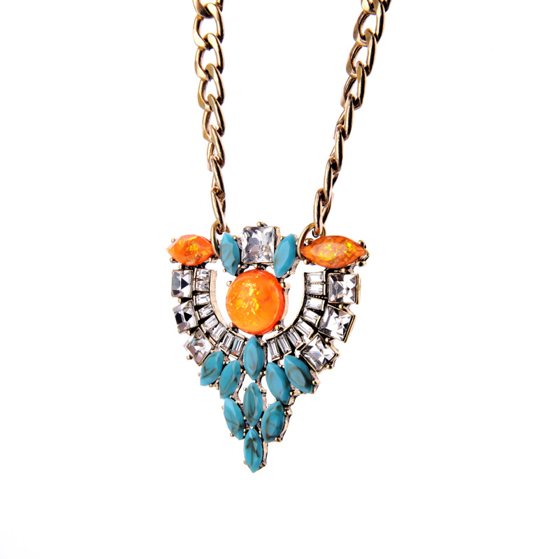 Online Shopping India Bib Statement Necklace My Orders Movie Jewelry Newest 2016 Gold Color Chain Pendant Necklace