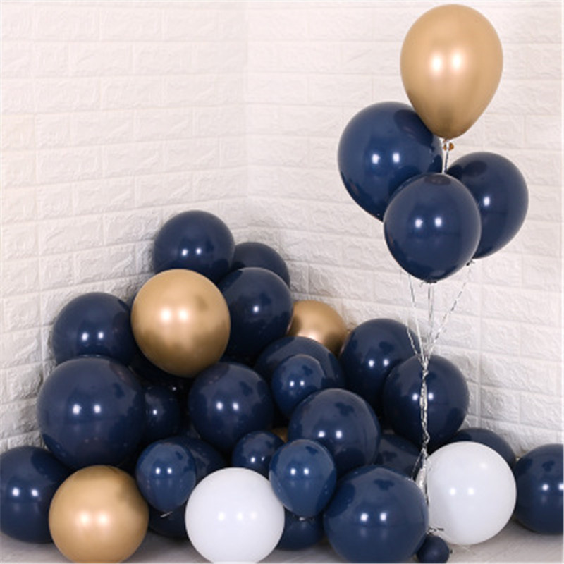 100pcs 5 10 12inch Navy Blue Balloons Latex Dark Blue Kids Favor Party Decor Balloons 1st Birthday Baby Shower Party Decoration in Ballons Accessories from Home Garden