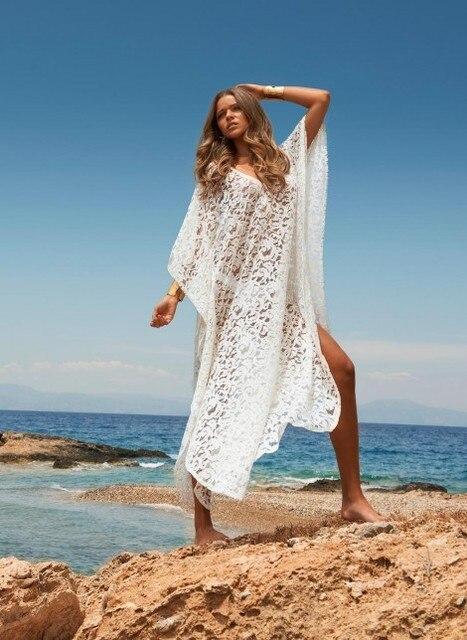 Длинное платье для пляжа фото