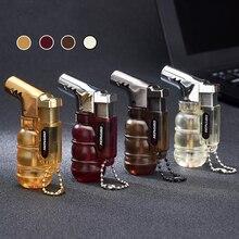 Компактная Бутановая струйная зажигалка, факельная турбо зажигалка для труб, мини пистолет распылитель, ветрозащитная Зажигалка для сигар, 1300 с, без газа