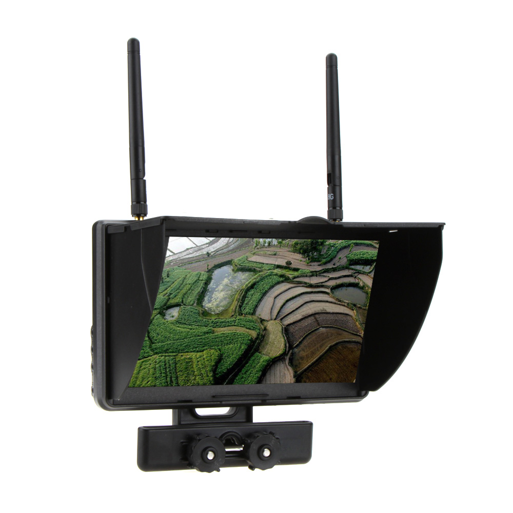 Boscam Galaxy D2 7 inch 800*480 TFT LCD screen dual receiver FPV 5.8GHz monitor Built-in battery for RC FPV helicopter QAV250 rc732 dvr 7 inch 800 480 hd lcd fpv monitor built in battery fpv boscam hd08a 1080p full hd waterproof sports camera