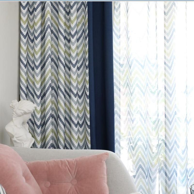 Byetee Modern Living Room Luxury Window Curtains Striped: [byetee] Modern Nordic Living Room Blackout Tulle Kitchen