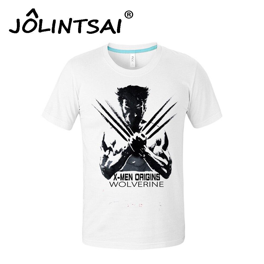 2017 mężczyźni super hero wolverines clothing męskie koszulki z krótkim rękawem 3d iron man drukuj Topy Koszulkę Śmieszne Skrótu Rękawa T koszula Bawełniana 4XL