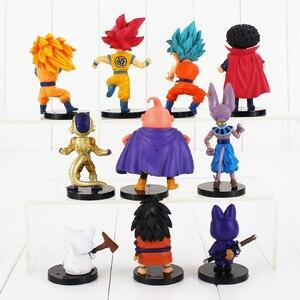 Image 5 - 20 pz/lotto Dragon Ball Z Figura Goku Vegeta Super Saiyan Dio Hercule Freezer Boo Beerus Whi DBZ Mini Modello IN PVC giocattoli Bambole