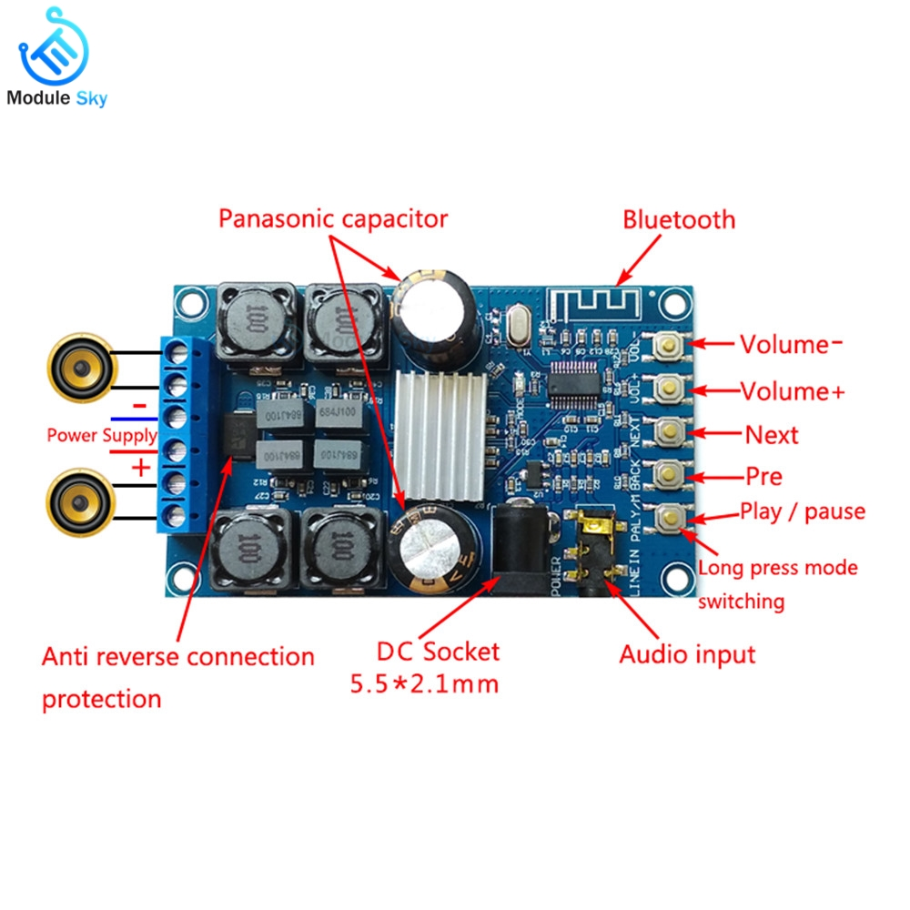 Hifivv Audio Power Amplifier Board 2.0ch 3w Dc5v Input Moderate Price Consumer Electronics