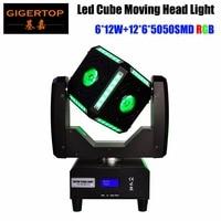 TIPTOP TP L681 Mini Cube Led Moving Head Light 8/23/27/69 DMX Channels RGBW 4IN1 Beam/RGB Led Belt SMD Ultimated Tilt Rotation