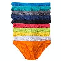 Bán buôn Sexy Mens Underwear Modal Vắn Quần Short Mềm Bulge Pouch Quần Lót Trượt Homme của Men Bikini Briefs 10 Màu Sắc Quần Lót