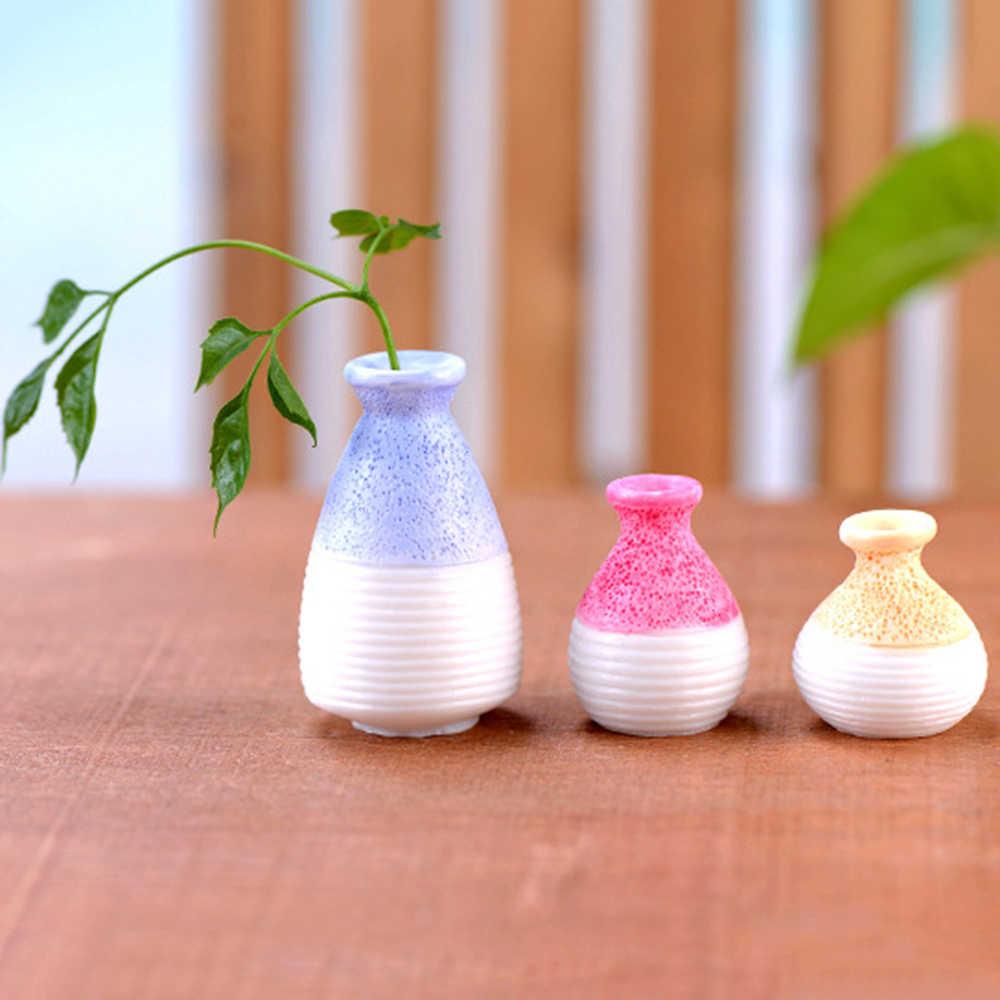 1 قطعة المشهد الصغير الجنية حديقة الزهرية الراتنج مصغرة صغيرة الفم زهرية وعاء النبات Craft بها بنفسك الحرفية ديكور حديقة المنزل حلية