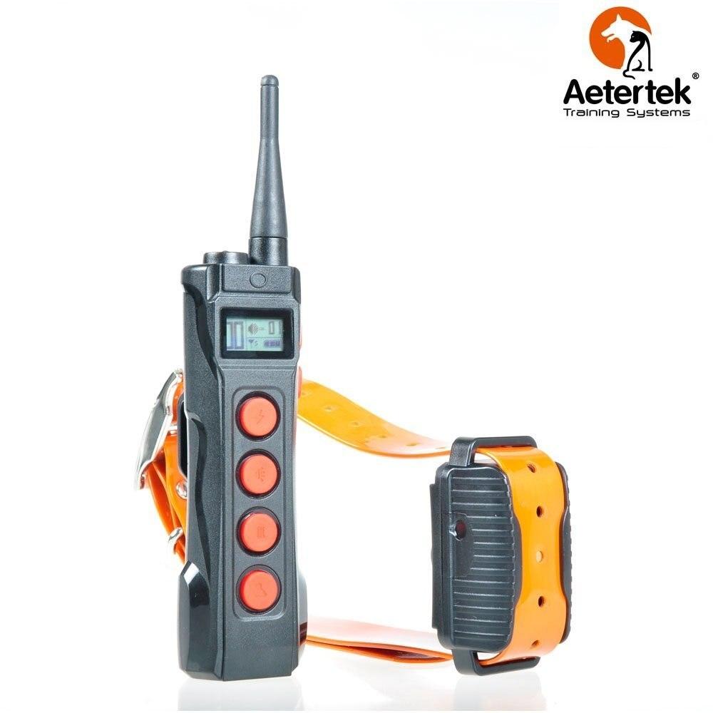 จัดส่งฟรี Aetertek Dog Shock Collar AT 919C 1 รีโมทคอนโทรลรีโมทคอนโทรลสุนัข 1000 M พร้อมจอแสดงผล LCD-ใน ปลอกคอสำหรับฝึก จาก บ้านและสวน บน   1