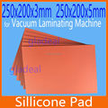 250*200mm Silicone Pad Silica Mat for OCA Vacuum Laminating Machine LCD Touch Screen Repair Separator for iPhone Samsung