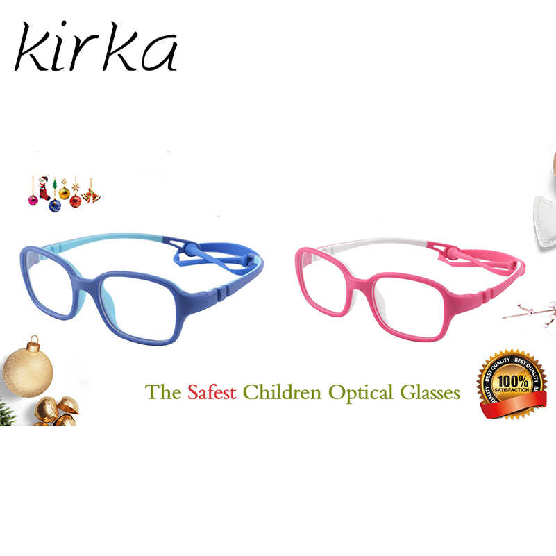 Kirka Flexible Kids Eyeglasses Frame TR90 Children Glasses Unbreakable Safe Light Boys Girls Optical Glasses Frame Kids Glasses