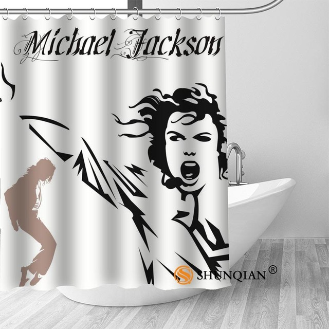 18 Michael jackson shower curtain washable thickened 5c64f7a44eda9
