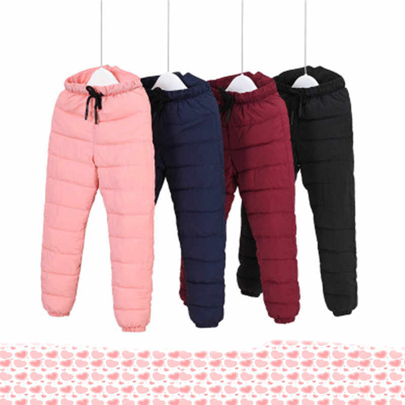 Winter Baby Girls Boys Clothes Children  High Quality Down Warm Long Trousers Leggings Children Pants Slim-fit cold pants
