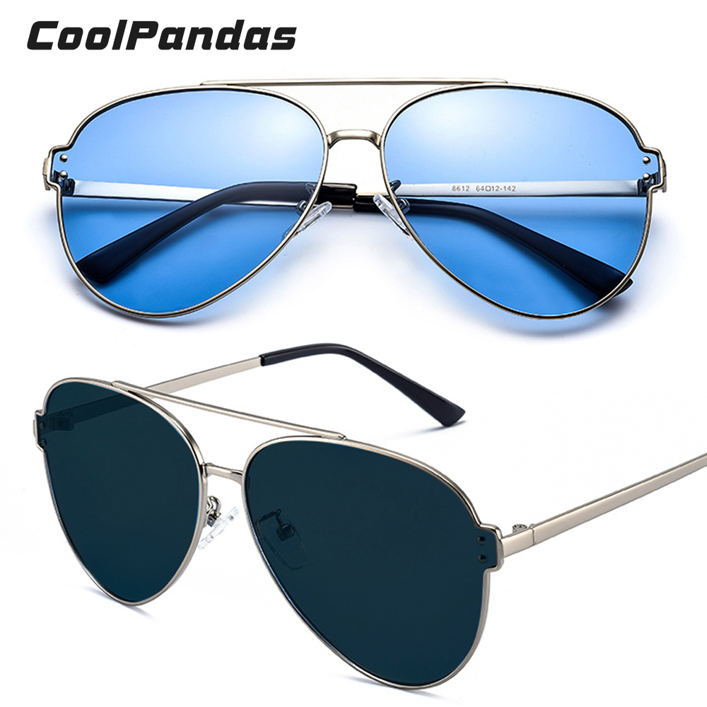 Image 4 - Brand Aviation Blue Pink Driving Photochromic Sunglasses Men Women Polarized Chameleon Sun Glasses Male oculos de sol masculino-in Men's Sunglasses from Apparel Accessories