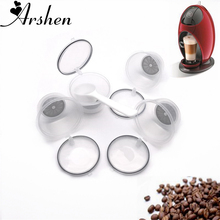 Arshen Crystal Dolce Gusto Coffee Capsule 4 Pcs/Set Plsatic Refillable 200 Times Reusable Compatible with Nescafe