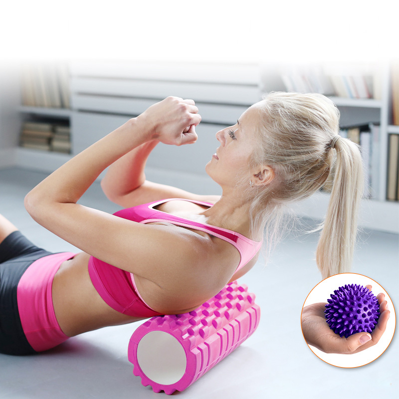 33cm 45cm Eco-friendly Yoga Foam Roller for Yoga Pilates Training Fitness Rollers With Trigger Points Muscle Relex Apparatus ...