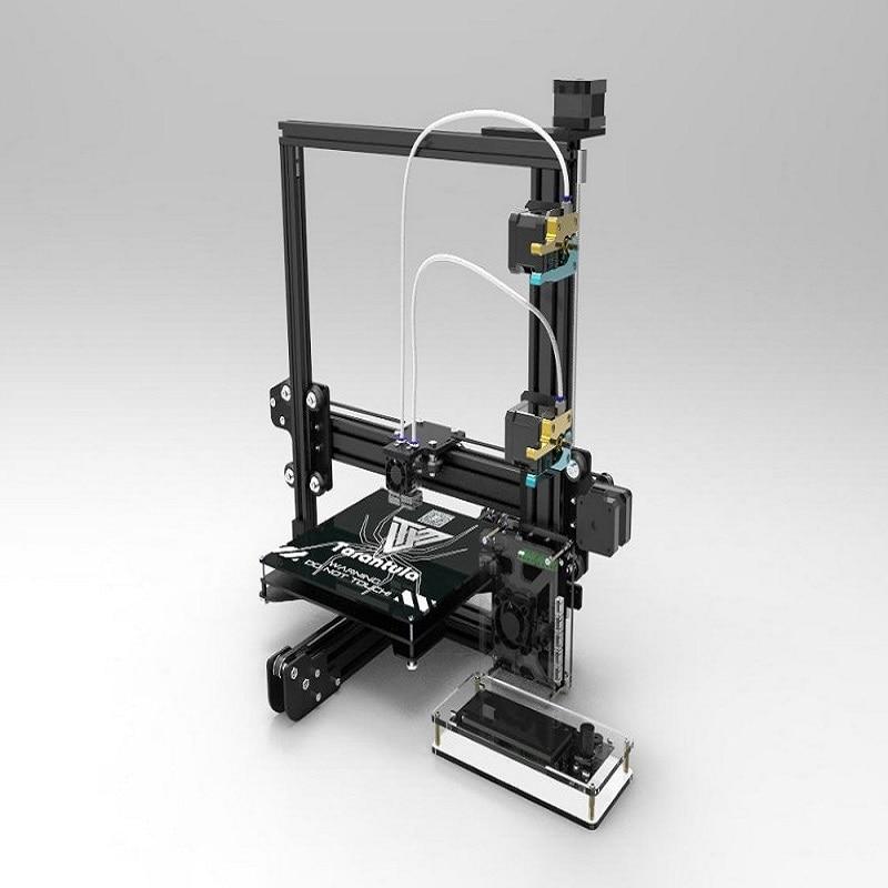 Auto leveling Dual Extruder Tarantula I3 Aluminium Extrusion 3D Printer kit printer 3d 2 Rolls Filament 8GB SD card LCD As Gift цена и фото