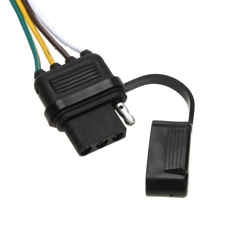 12V 4 Pin US Trailer Hitch Wiring Cable Tow Harness Power Controller ...