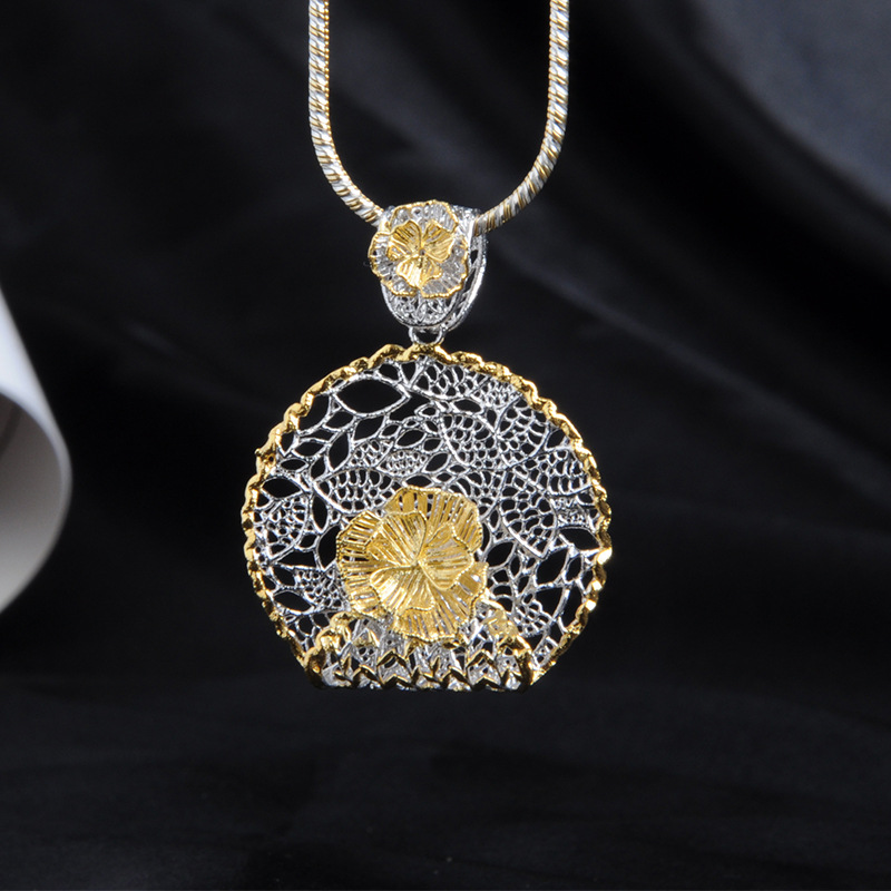 Jewelry Manufacturers Entity Wholesale New Creative Custom Italian Lace Craft S925 Sterling Silver Pendant AccessoriesJewelry Manufacturers Entity Wholesale New Creative Custom Italian Lace Craft S925 Sterling Silver Pendant Accessories
