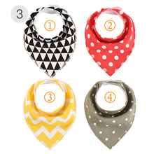 4Pcs/Lot Newborn Bibs For Baby Feedings Burp Cloth Toddler Infant Boy Girl Saliva Towels Scarf Cotton Bandana Dropshipping