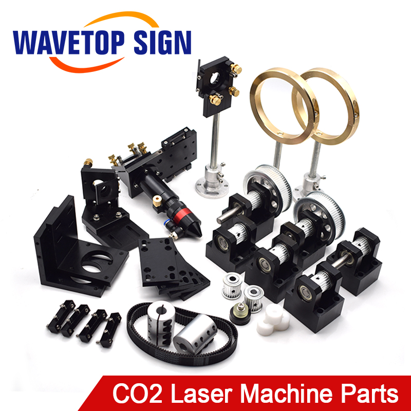 WaveTopSign CO2 Laser Metal Parts Transmission Laser head Set Mechanical Components for DIY CO2 Laser Engraving