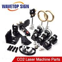CO2 лазерной головки комплект CO2 Лазера Металл Запчасти co2 лазерной путь использовать для лазерной резки и гравировки машина