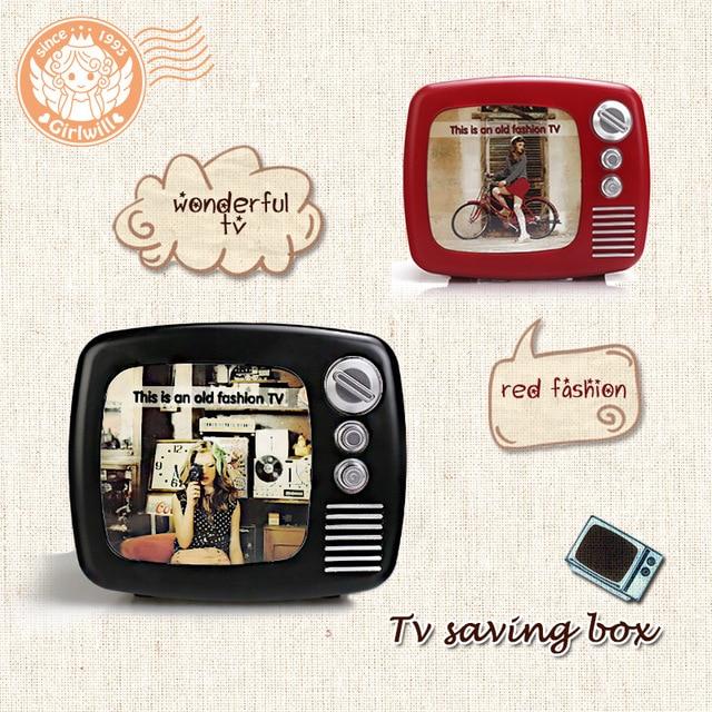Kreative Alte Mode Tv Munze Spar Box Bilderrahmen 3 In Einem