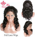 Queen Hair Human Hair Full Lace Wig / Lace Front Wig 100% Brazilian Virgin Human Hair Body Wave Glueless Wigs FAST SHIPPING