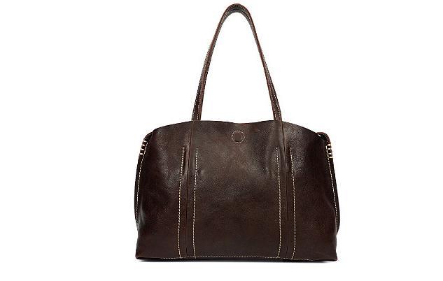 The new handbag is hand made leather handbag with a retro one shoulder bag and a