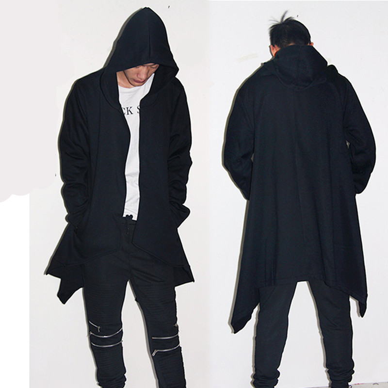 Punkool hombres Sudadera con capucha abrigo pato cardigan