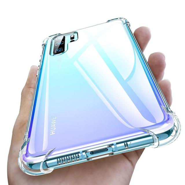 FIVI Airbag shell Soft Clear Phone Cover for Huawei P20 P30 Mate 20 Pro P20 Mate 20 lite Transparent Shockproof  case for huawei