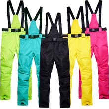 Caliente Pantalones de Esquí de Invierno Al Aire Libre Deportes Pantalones de Invierno de Alta Calidad Colorido Pantalones Tallas grandes Pantalones de Snowboard Esquís