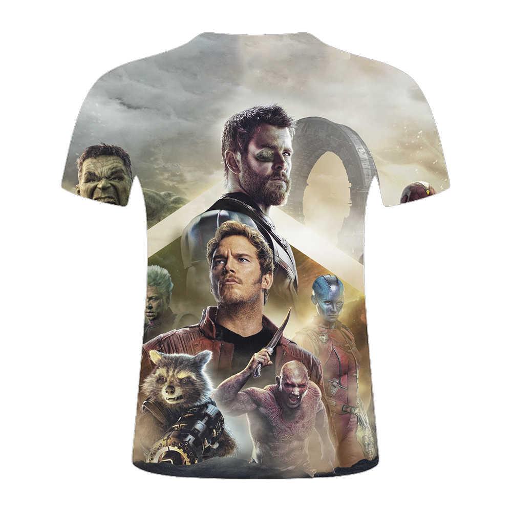 Новое поступление, популярная футболка «мстители» из фильма 4 эндгама marvel, модная футболка с короткими рукавами и 3D-принтом, Уличная Повседневная летняя футболка