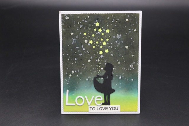 girl under the stars cutting dies stencil carbon steel die