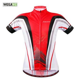 Wosawe Для мужчин велосипед майки-Короткие Mtb Camisa Ciclismo Прету e Branco Велоспорт Трикотажные дышащий быстрый сухой короткий рукав спортивная