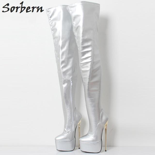 415349e58aa Sorbern Hot Pink Matt Extreme Heels Exotic Dancer Shoes Crotch Thigh ...