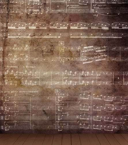 Musical Note Wall Backgrounds for Photo Studio Fundo Fotografico 5X7ft  Wedding Children Photography Vinyl Backdrop new arrival background fundo antique wall paintings 7 feet length with 5 feet width backgrounds lk 2585