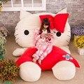 Fancytrader Высокое Качество Hello Kitty Игрушка 230 см Х 150 см Гигант огромный Hello Kitty Кровать Ковер Диван Дети Подарков Бесплатная Доставка FT90209
