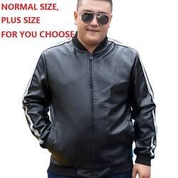 Большие размеры воюющий Человек классические модные искусственная кожа для мужчин из искусственной кожи с флисовой подкладкой куртки